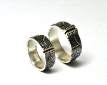 silver steampunk wedding rings repeterendum - Steampunk Wedding Rings