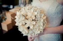wedding photo - Handmade Sheet Music (First Dance Or Other Song) Paper Flower Bride's Bouquet