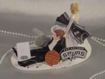 wedding photo - San Antonio Spurs Basketball Sports Groom Fun Wedding Cake Topper-Sports Fan Mr Love Mrs Funny Weddings Decorating Groom's Cake Ideas