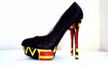 wedding photo - Kente Fabric Platform Wedding Shoes