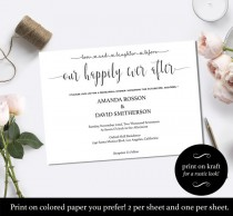 "wedding photo - Love and laughter before happily ever after invitation- ""Happily Ever After"" Wedding Invitation Instant Download"