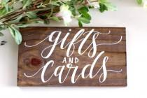 wedding photo - Rustic Wedding Sign, Gifts and Cards Sign, Rustic Wedding Decor, Gift Table Sign, Wedding Signage