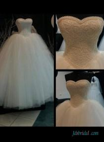 wedding photo - Vintage fairytale princess basque ball gown wedding dress