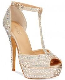 wedding photo - Thalia Sodi Flor Platform Dress Sandals