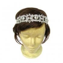 wedding photo - 1920 Headpiece, Wedding Accessories, Great Gatsby Headpiece, Flapper Headband, Bridal Headpiece, 20s, Rhinestone Hair Jewelry