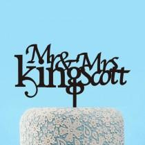wedding photo - Personalized Mr & Mrs Last Name Cake Topper,Wedding Cake Topper,Mr and Mrs Cake Topper,Acrylic Cake Topper Wedding,Engagement Cake Toppers