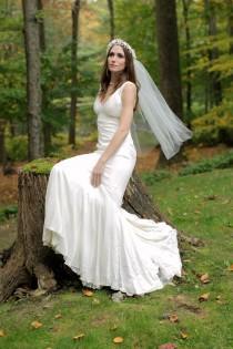 wedding photo - Fingertip Veil, Classic One Tier Wedding Veils, Waltz Veil, Chapel Veil, Cathedral Veil, Weddings, Accessories, Veils,  Style No. 4126