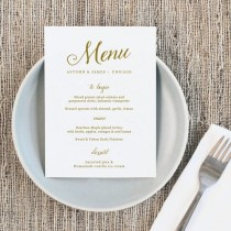 wedding photo - Printable Wedding Menu