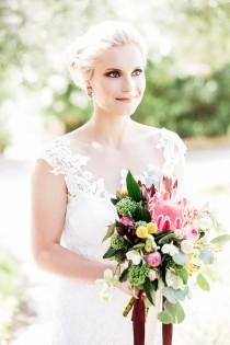 wedding photo - Stylish Wedding in Portugal with Gorgeous Protea Decor