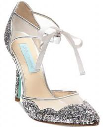 wedding photo - Blue By Betsey Johnson Stela Front-Tie Pumps