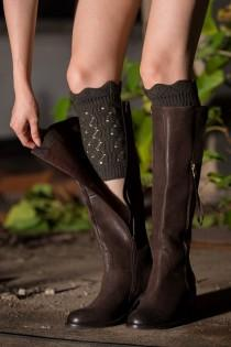 wedding photo - Right Into The Night Twist Boot Cuffs