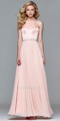 wedding photo - Simplistic Chiffon A-line Evening Gown By Faviana