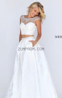 wedding photo - Style 50197 Two-Piece Textured Gown by Sherri Hill