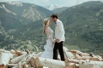 wedding photo - Moody, Mountain-Inspired Wedding in Avon, Colorado: Sydni + Charlie