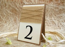 wedding photo - Rustic Table Number, Burlap Wedding Table Number, Escort Cards, Wedding Table Numbers, Burlap Table Numbers, Kraft Table Number, Rustic Chic