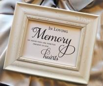 wedding photo - In Loving Memory of those who are forever present in our hearts, Remembrance Sign, Wedding Reception Signage Wedding Sign 5x7 NO Frame