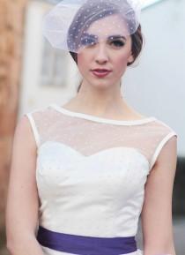 wedding photo - Polka dot birdcage veils made to order bridal veil
