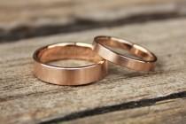 wedding photo - Classic weddingbands 14k rose gold