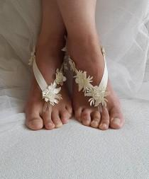 wedding photo - beach,Imitation leather flowers, wedding sandals, shoes, free shipping! Anklet, bridal sandals, bridesmaids, wedding gifts.......