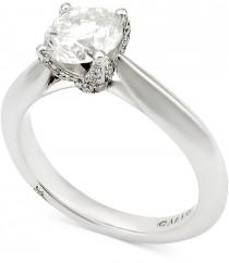 wedding photo - Marchesa Certified Diamond Engagement Ring (1-5/8 ct. t.w.) in 18k White Gold