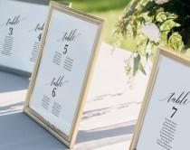 wedding photo - Wedding Seating Chart, Seating Chart Template, Wedding Seating Cards, Alphabetical, Seating Chart Printable, PDF Instant Download #BPB310_5