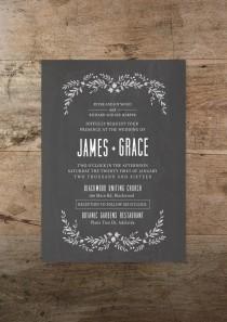 wedding photo - Printable wedding invitation and RSVP card, 'Modern Romance' design, foliage, vintage, rustic, bohemian invitation, wedding, DIY, print