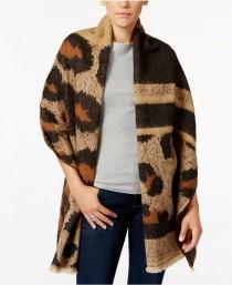 b18bc28d30 INC International Concepts Oversized Leopard-Print Wrap