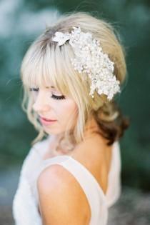 wedding photo - Pearl Comb,Wedding Headpiece,Wedding Hair Piece,Bridal Headpiece,Crystal Headpiece,Jewelled Wedding Hairpiece,Pearls Headpiece-CLEMENTINE