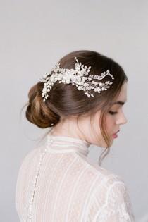 wedding photo - Wedding Hair Comb,Bridal Hair Comb,Crystal Bridal Comb,Silver Wedding Hair Comb,Wedding Hair Accessory,Bridal Headpiece,Hairpiece-ETTA SILVE