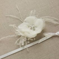 wedding photo - Ivory wedding hair flower Ivory Bridal hair flower Ivory Hair flower clip Wedding hair piece Wedding Hair accessories Wedding headpiece