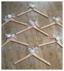 wedding photo - Wedding coat hanger - personalised colours & name