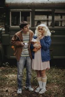 wedding photo - Camp Halloween Engagement Shoot: Stranger Things, Friday the 13th & Addam's Family Values!