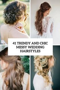 wedding photo - 41 Trendy And Chic Messy Wedding Hairstyles - Weddingomania