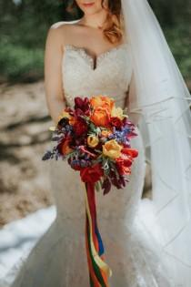 wedding photo - Colorful Woodland Inspired Fiesta Wedding Shoot - Weddingomania