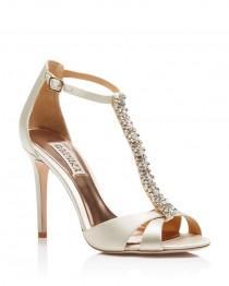 wedding photo - Badgley Mischka Radiant T-Strap High Heel Sandals