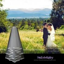 wedding photo - Short Wedding Veil, Radiance Veil, 2-Tier Bridal Veil, Bias-Bound Edge Veil, Waist Elbow Veil, Made-to-Order Veil, Handmade Veil