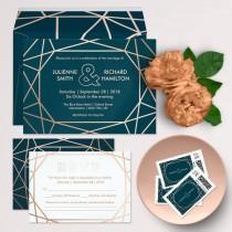 wedding photo - Modern Geometric Wedding Suite