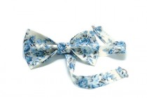 wedding photo - gay wedding bow ties for gay couples gay engagement anniversary gift his & his him and him gay marriage Mr and Mr floral ivory tie niukiol
