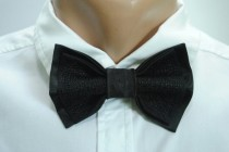 wedding photo - wedding bow ties black bow tie groom gift from bride wedding gift for groom on wedding day gifts for groom socks groomsmen bridal shower fgd