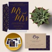 wedding photo - Rustic Chic Wedding Invitation