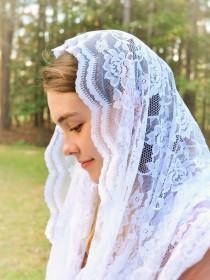 wedding photo - Catholic Soft White Infinity Veil