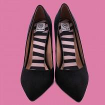wedding photo - Audrey Stripes Airpufs, Black and White Striped Shoe Insoles