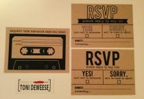 wedding photo - RSVP & Song Request Mix Tape, Simple Kraft Paper