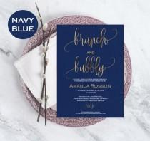 wedding photo -  Brunch & Bubbly Bridal Shower Template - Printable Bridal shower Invitation - Downloadable wedding invitations