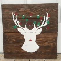 wedding photo - Reindeer Sign Christmas Decor