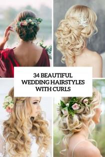wedding photo - 34 Beautiful Wedding Hairstyles With Curls - Weddingomania
