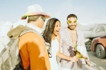 wedding photo - Major heart eyes for this Indian wedding at Burning Man