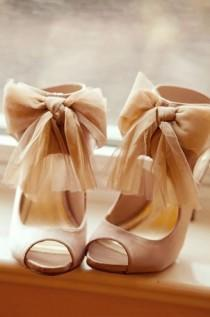wedding photo - Sheer Bow Shoe