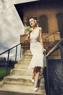 wedding photo - 20s wedding dress, Charleston wedding, Flapper wedding dress, Great Garbo dress, 1920 dress