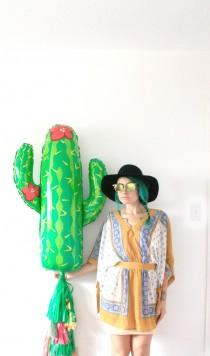 wedding photo - Cactus Tassel Balloon, Mexican Fiesta Party Decor, Photo Booth Prop, Taco Bar, Cinco de Mayo, Bachelorette Party Decorations, Western Cowboy